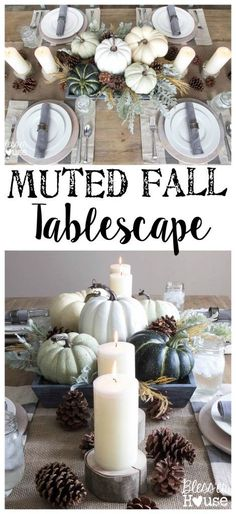 Muted Fall Tablescap