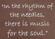 The zen of knitting..