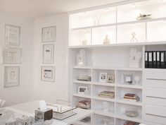Bright white contemporary home office