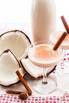 Coquito recipes are guarded like the Holy Grail. This Puerto Rican libation uses not one, but three, types of rum, along with coconut milk and cinnamon. Coquito Recipe, Rum Cream, Holiday Drinks, Thanksgiving Cocktails, Winter Drinks, Holiday Recipes, Cream Pie Recipes, Coconut Rum, Spiced Rum