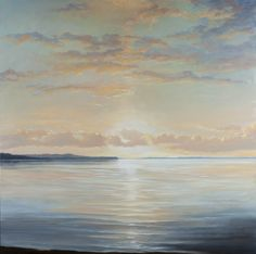 Seascape Paintings, Landscape Paintings, Landscapes, Step By Step Painting, Beautiful Sky, Diy Art, Art Inspo, Contemporary Art, Abstract Art
