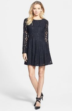 Painted Threads Floral Lace Skater Dress (Juniors) available at #Nordstrom