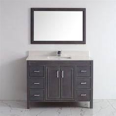 Costco Studio Bathe Kalize 48 French Grey Single Vanity With Mirror