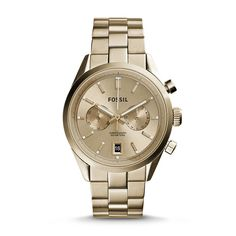 Del Rey Chronograph Gold-Tone Stainless Steel Watch