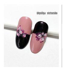 Best Acrylic Nails, Acrylic Nail Art, 3d Nail Art, Art 3d, Rhinestone Nails, Bling Nails, 3d Nails, Pink Black Nails, Pastel Nails