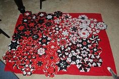 """One-Block Wonder Quilt, awesome concept! ...Great use of red/white/blue patriotic fabric to make a great """"American Heroes"""" type quilt!.....vwr"""