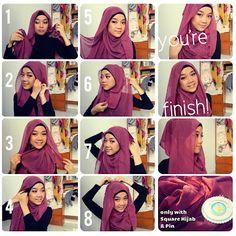 Hijab / jilbab tutorial - pashmina