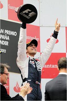 Pastor Maldonado reaches the glory in Catalunya
