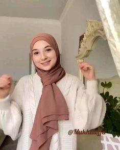 Easy Hijab Style, New Hijab Style, Hijab Turban Style, Mode Turban, Hijab Style Dress, Easy Hijab Tutorial, Pashmina Hijab Tutorial, Hijab Style Tutorial, Hijab Fashion Casual