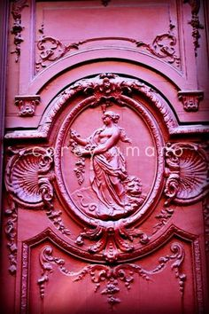 Tomorrow will be a beautiful Day Cool Doors, Unique Doors, Everything Pink, France, Doorway, Door Knockers, Windows And Doors, Architecture Details, My Favorite Color