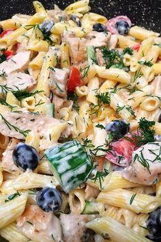 Ez az étel Nálad is gyorsan nagy kedvenc lesz! Meat Recipes, Pasta Recipes, Chicken Recipes, Cooking Recipes, Healthy Recipes, Cold Dishes, No Cook Meals, Food To Make, Food And Drink