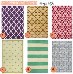 Rugs USA -- relatively cheap rug website with lots of cute styles. Website link: http://www.rugsusa.com/rugsusa/control/rugs