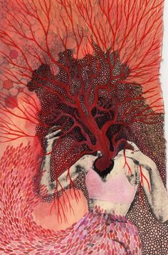 Half-Seen Things and Possibilities: Coronary Cartography by Ashley Blanton Arte Horror, Horror Art, Art Sketches, Art Drawings, Illustration Art, Illustrations, Arte Obscura, Ap Art, Weird Art