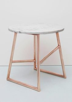 Copper & Marble Table