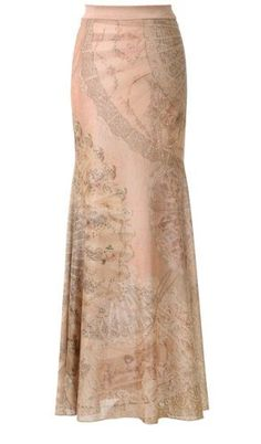 Michal Negrin Intriguing Light Peach Mermaid Skirt Accented with Vintage Floral Pattern Accented with Swarovski Crystals; Handmade in Israel - Size L Michal Negrin,http://www.amazon.com/dp/B008JDTC18/ref=cm_sw_r_pi_dp_-xC0qb0A3Z26VGYQ