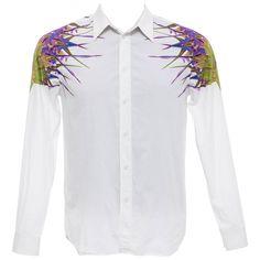948777e3644 Riccardo Tisci Givenchy Men s Cotton Birds Of Paradise Shirt