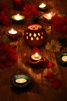 Decorated Lamps And Alpana For Diwali Festivals And Function Decor And Preparations At Home