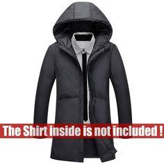 76b119e9527 MYDBSH Brand Clothing Autumn Winter Mens Jacket 2018 New Parkas Coat Men  Down Jackets Casual Keep Warm Zipper Men Hooded Coats