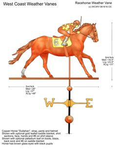Racehorse Design by West Coast Weather Vanes