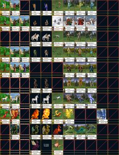 Heroes of Might and Magic: Sylvan faction creatures