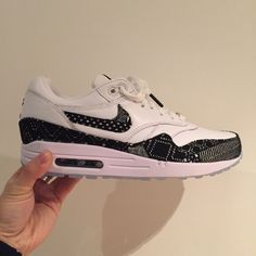 new style 326f4 14765 Nike Air Max 1 BHM Mens UK 7 US 8 EU 41 Leather White Mesh Black Icey Sole   Nike  Nike  AirMax  Retro  LimitedEdition  StreetFashion  Trainers   Sneakers ...