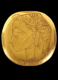 A beauty in a gold plate Picasso