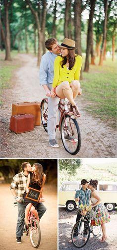 Fotos de preboda con bicicletas