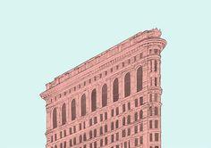 poster flatiron building ny city