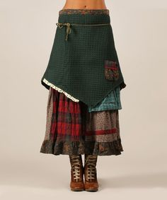 Another great find on #zulily! Green & Red Plaid Maxie Skirt #zulilyfinds