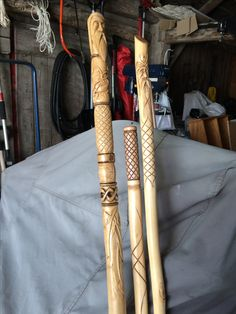 3 more recently completed walking sticks Handmade Walking Sticks, Hand Carved Walking Sticks, Walking Sticks And Canes, Wooden Walking Sticks, Walking Canes, Wood Carving Patterns, Wood Carving Art, Wood Patterns, Blackthorn Walking Stick