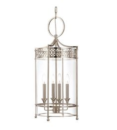 Hudson Valley Lighting Amelia 4 Light Pendant in Polished Nickel 8994-PN #lightingnewyork #lny #lighting