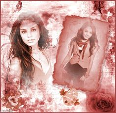 Scrapbook page. Great sepia/rose layout. Almost looks vintage. Click to add your own photos to this for free