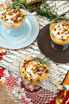You will love this light as air caramel pumpkin mousse. The classic flavors of pumpkin pie, but in an individual dessert that won't weigh you down. Vegetarian Thanksgiving, Thanksgiving Recipes, Fall Recipes, Holiday Recipes, Winter Desserts, Fun Desserts, Dessert Recipes, Chocolate Desserts, Pumpkin Mousse