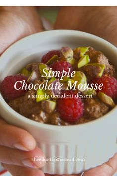 Simple Chocolate Mousse www.theelliotthom...