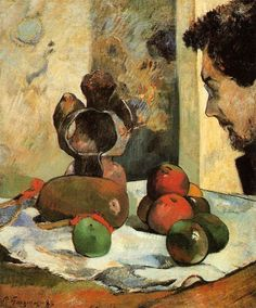 Paul Gauguin Still Life with Profile of Laval 1886