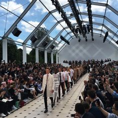 Strait-laced - The @Burberry Menswear S/S16 collection returns to the runway for the finale #BurberryShow #LCM