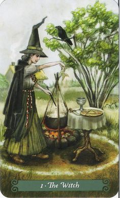 The Witch (The Magician) - Green Witch Tarot