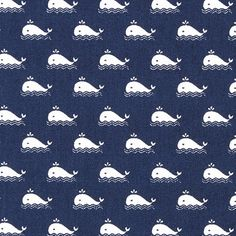 Kretong Val – navy - Kretong- tyg.se Wal, Bleu Marine, Cool Stuff, Night Wear, Babys, Cucumber, Products, Blue Whale, Sewing Projects