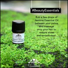 Want hair that feels magical and enchants everyone? Try this simple trick using R.K's Aroma Jasmine essential oil! #BeautyEssentials #BeautyHacks