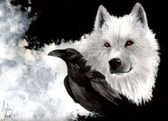 black red eyes game of thrones a song of ice and fire albino jon snow ravens direwolf ghost wolves Wallpaper Art Game Of Thrones, Game Of Thrones Wolves, Anime Wolf, Wolf Tattoos, Wolf Spirit, Spirit Animal, Game Of Thrones Wallpapers, Tier Wolf, Raven And Wolf