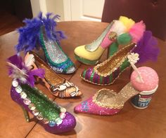 Some of my 2014 Krewe of Muses Glittered Shoes