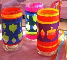 Happy Hanukkah Candle Holders