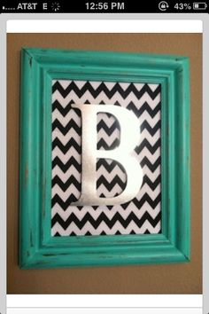 Chevron picture frame:-)
