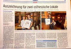 """Heute in der Fuldaer Zeitung:  Fachzeitschrift """"Der Feinschmecker"""" wird in Fulda und Hilders fündig ... http://www.fuldaerzeitung.de/topthema/gastro-fuhrer-beste-restaurants-fur-jeden-tag-wird-in-fulda-und-hilders-fundig-DD6849063"""