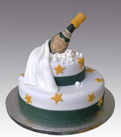 OMG I NEED THIS  Champagne Celebration Cake by Gellyscakes, via Flickr