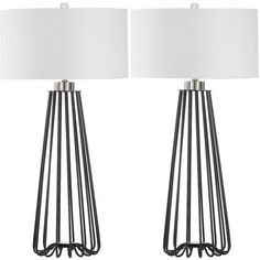 """Anchondo 33"""" Table Lamp with Drum Shade   AllModern"""