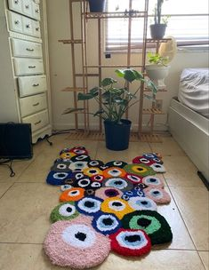 Indie Room Decor, Aesthetic Room Decor, Quirky Decor, Funky Rugs, Cool Rugs, Decoration Inspiration, Room Inspiration, Room Ideas Bedroom, Bedroom Decor