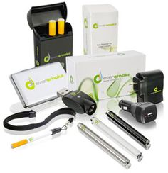 EverSmoke electronic cigarettes starter kit. Everything you need in one package to start using electronic cigarettes. Learn more at http://www.eversmoke.com/?A=1077