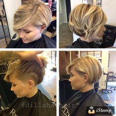- Peinados y pelo 2017 para hombre y mujeres Love Hair, Great Hair, Pretty Hairstyles, Bob Hairstyles, Bob Haircuts, Shaved Side Hairstyles, Summer Haircuts, Hairstyle Ideas, Shaved Side Haircut