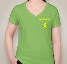 Aiden's Army  Fundraiser - vneck  shirt design - small - front You only have until June 30th to buy items to support #AidensArmy and raise awareness for #PediatricCancer https://www.booster.com/aidensarmypc